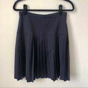 J. CREW ⚓️ Navy Pleated Midi Skirt